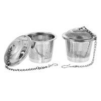"""U.S. Kitchen Supply 2 Premium Tea Infuser 2"""" Diameter Stainless Steel Single Cup Perfect Strainers for Loose Leaf Tea"""