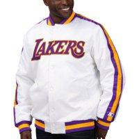 Los Angeles Lakers Starter The Defensive Varsity Satin Jacket - White