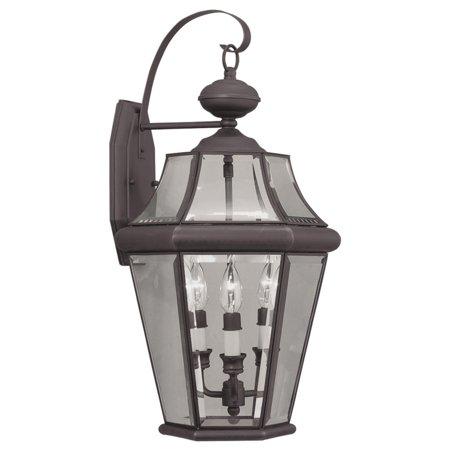 (Livex Lighting Georgetown 3 Light Outdoor Wall Lantern)