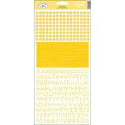Teensy Type Cardstock Alphabet Stickers-Bumblebee