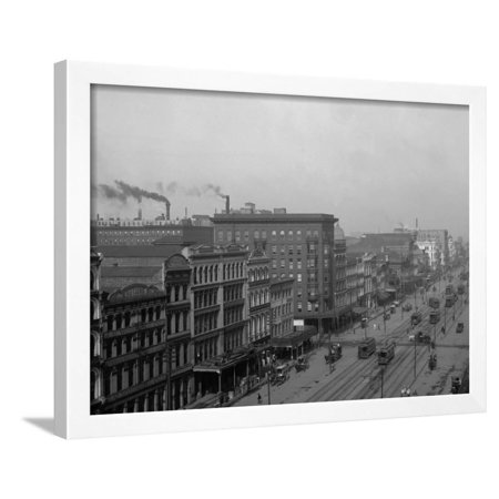 Canal St., New Orleans, La. Framed Print Wall (Canal St In New Orleans)