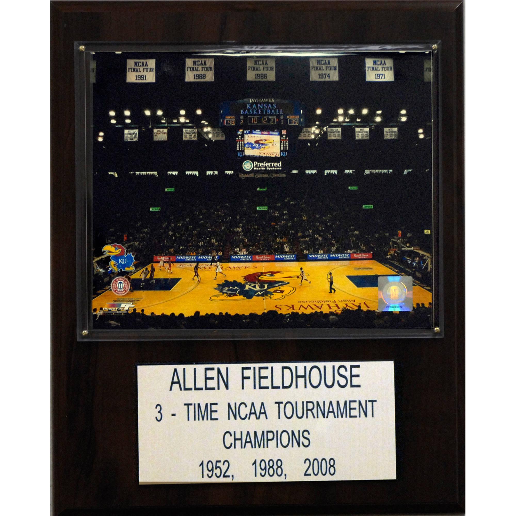 C&I Collectables NCAA Basketball 12x15 Allen Fieldhouse Arena Plaque