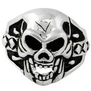 Hellfire Jewelry HellFire Sterling Silver Sadist Skull Ring