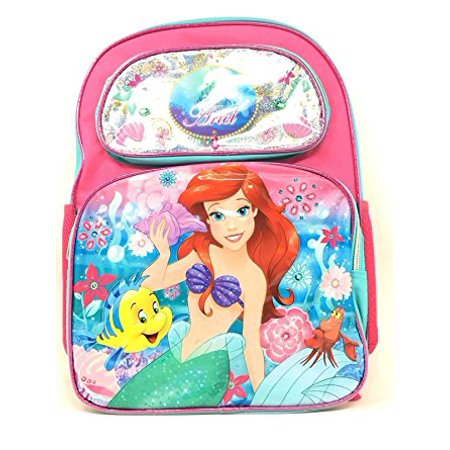 Backpack - Disney - Little Mermaid Ariel w/Flower New 135614-2