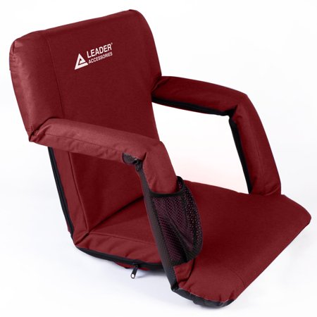 Lafayette Stadium Seat - Leader Accessories Stadium Seat Cozy Portable Reclining Seat Folding Bleacher or Benche Chair with Arm rest
