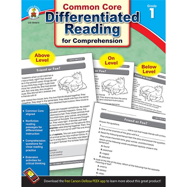 Carson Dellosa CD-104613 Book 1 Differentiated Reading For
