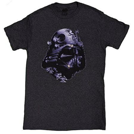6599807f2 Fifth Sun - Men's Star Wars Darth Vader Space N Vader Death Star Helmet T- Shirt - Walmart.com