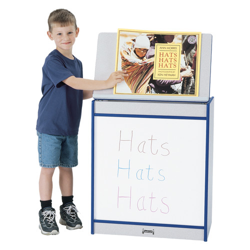 Jonti-Craft Rainbow Accents  Big Book Easel Free-Standing Whiteboard, 4' x 2'