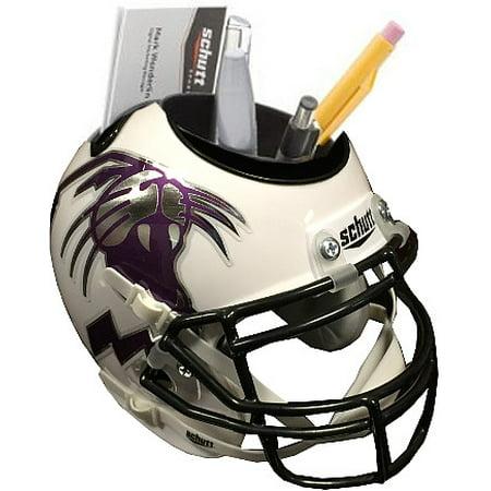 Northwestern Wildcats (White Alternate Wildcat Head) NCAA Football Schutt Mini Helmet Desk Caddy