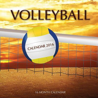 Volleyball Calendar 2016  16 Month Calendar