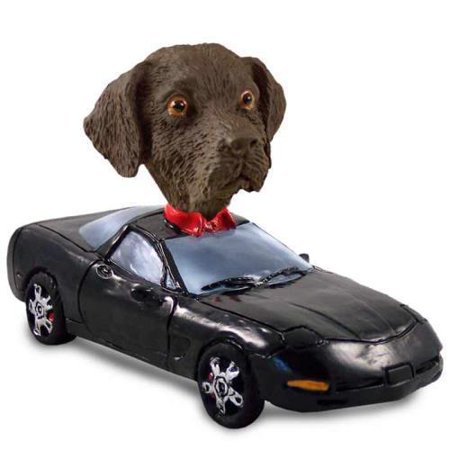 DOOG24C221 Labrador Retriever Chocolate Sports Car Doogie Collectable Figurine ()