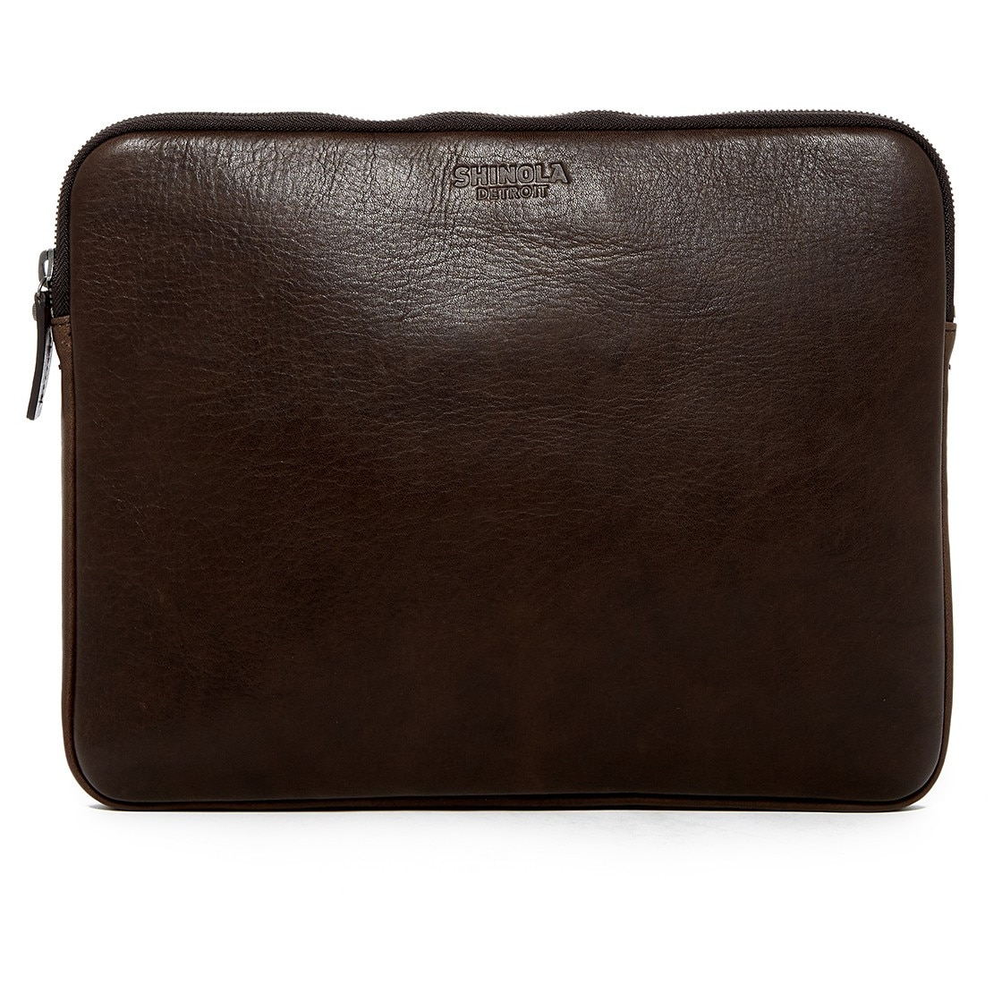 """Shinola 13"""" Portfolio Full Grain Leather Laptop   Tablet Zippered Pouch Choose Your Color-Deep Brown   13"""" by Shinola"""