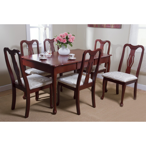 queen anne dining set 1980's set of queen anne dining chairs cherry walmartcom
