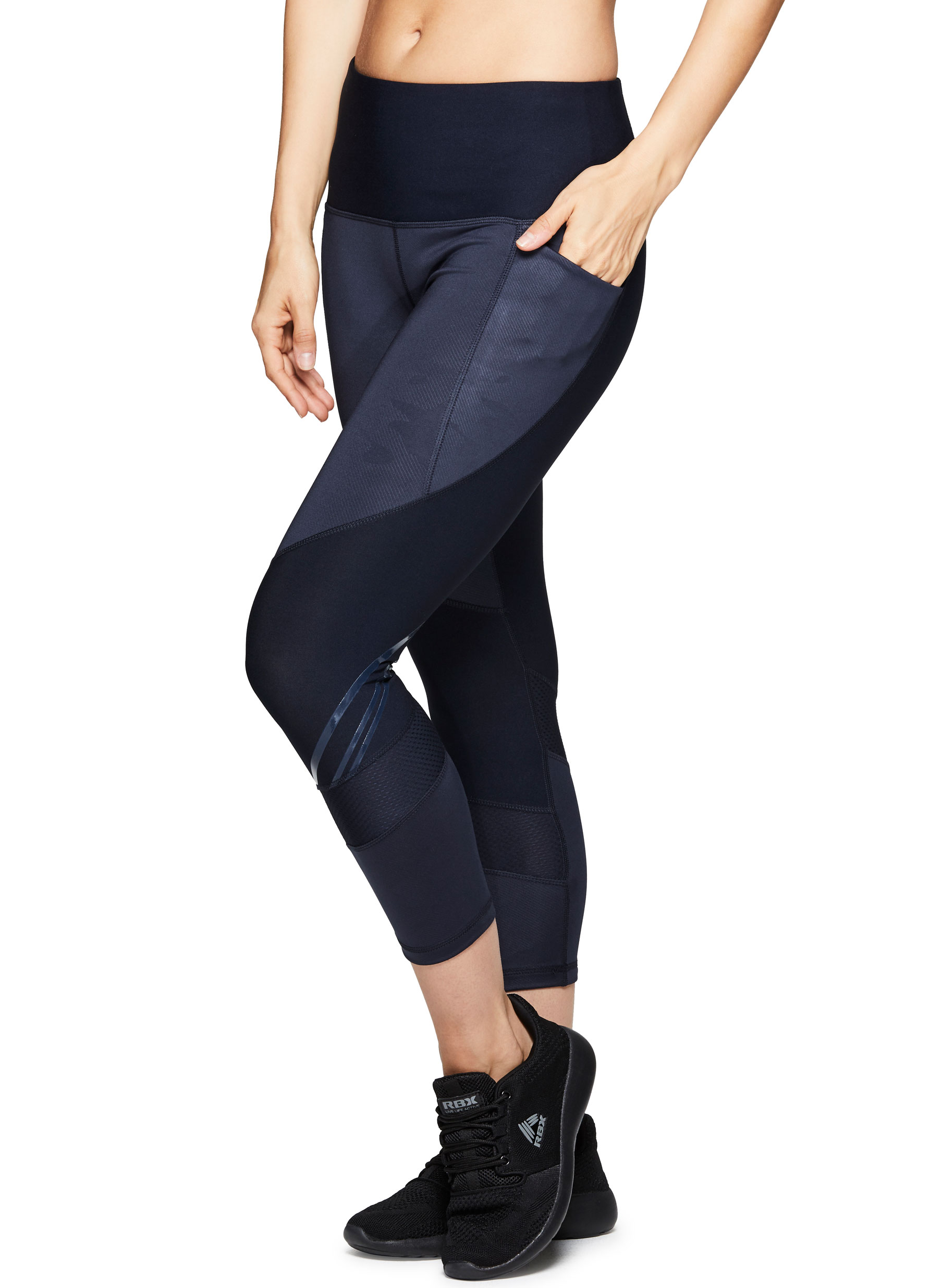 Women's Active Camo Embossed Capri Performance Legging