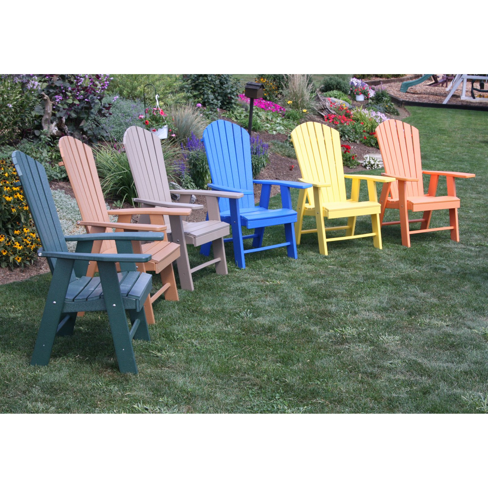 A u0026&; L Furniture Recycled Plastic High Seat Adirondack Chair - Walmart .com  sc 1 st  Walmart & A u0026amp; L Furniture Recycled Plastic High Seat Adirondack Chair ...