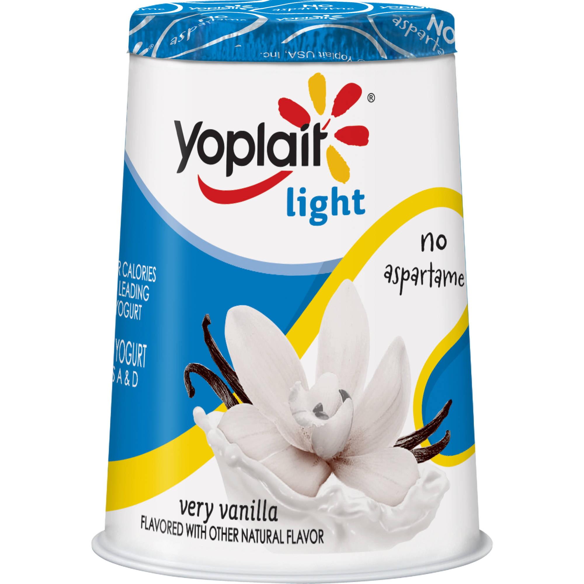Yoplait? Light Very Vanilla Fat Free Yogurt 6 oz. Cup