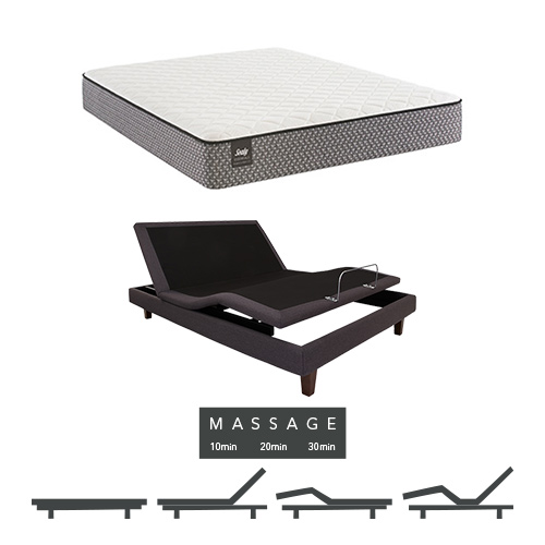 Bernstein Full Size Plush Tight Top Mattress and Adjustable Base with Massage Feature Sealy Response Essentials Mattress by Sealy