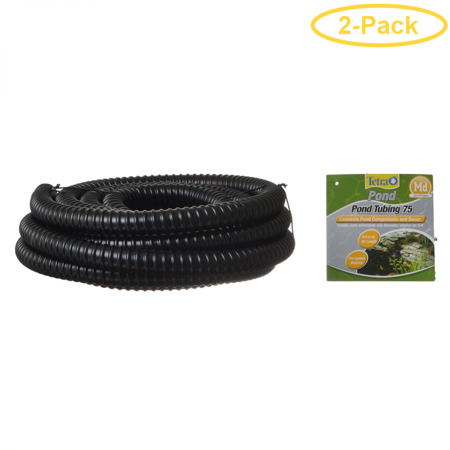 - Tetra Pond Pond Tubing - Black 20' Long x 3/4 Diameter - Pack of 2