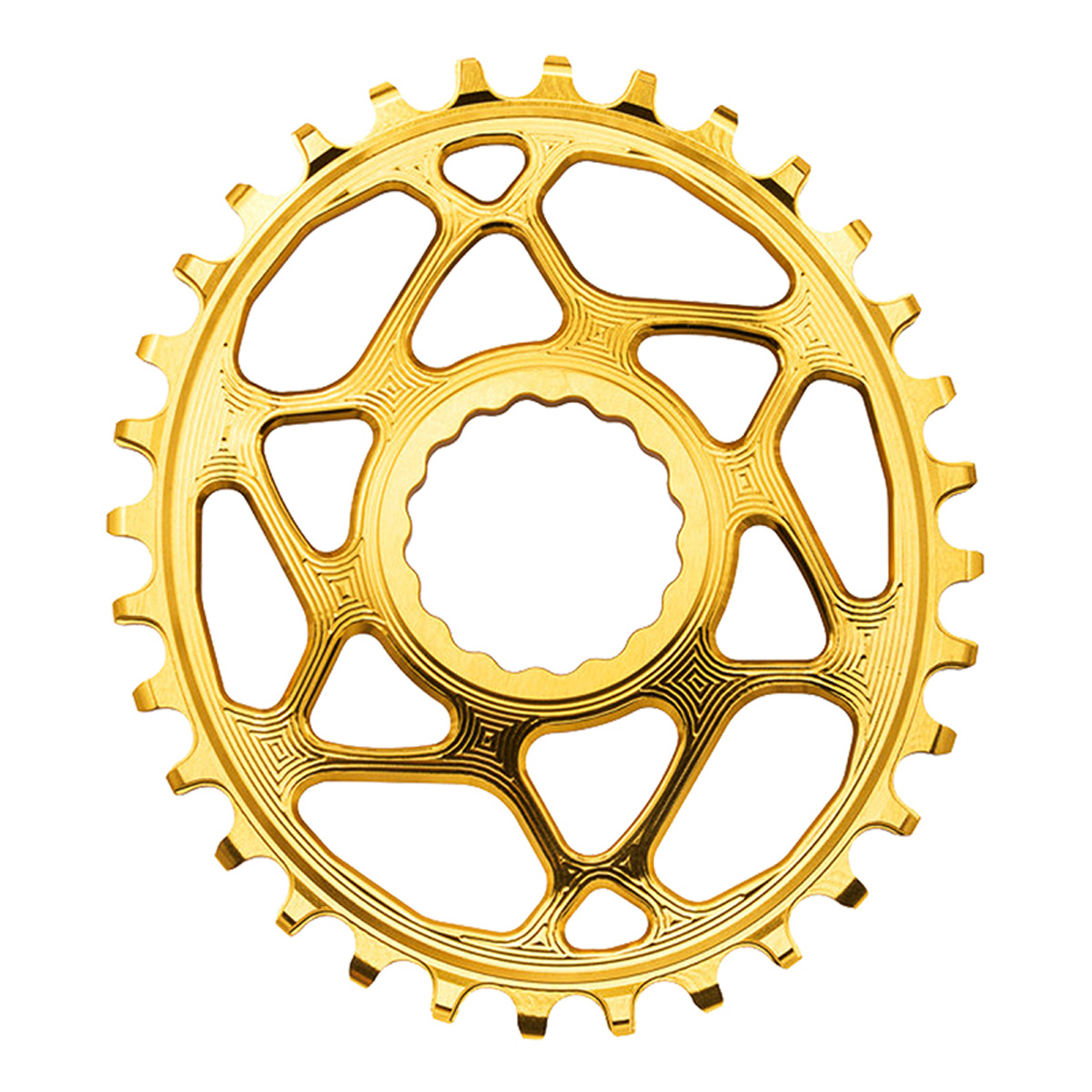 Absolute Black Oval Direct Boost 148 Bicycle Chainring - 36T (Gold - 36T)
