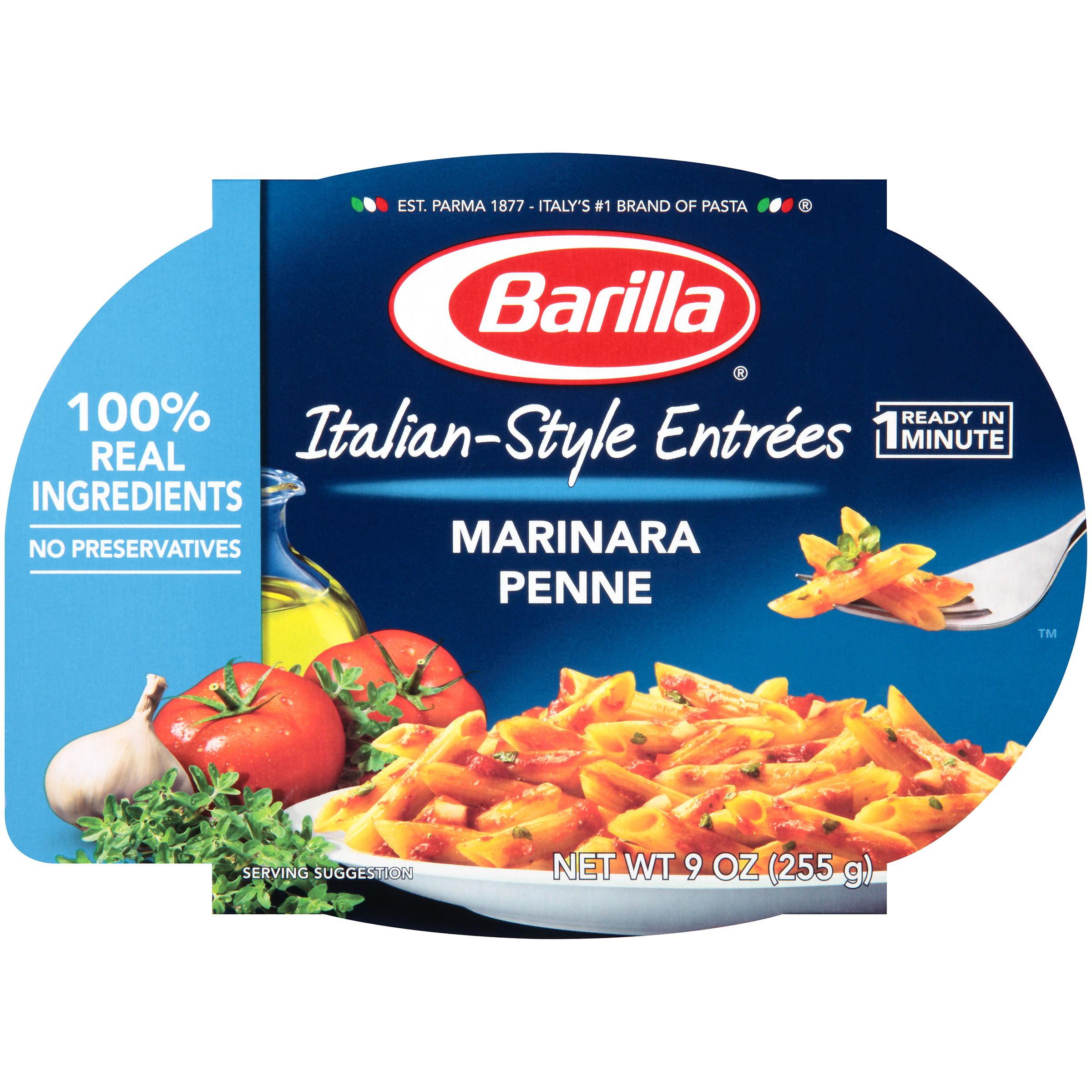 Barilla Mezze Penne Pasta with Traditional Marinara Sauce, 9 oz by Barilla America, Inc
