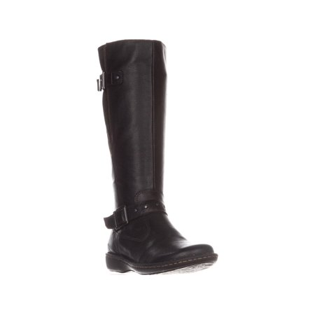 B.O.C Womens Austin Leather Closed Toe Knee High Riding Boots Austin Black Leather