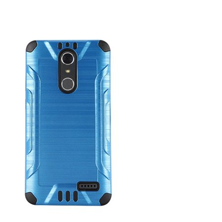 Phone Case For Zte Blade Spark 4G At Prepaid Smartphone  Zte Grand X4  Cricket Wireless  Case  Metallic Brush Cover Case   Screen Protector  Blue