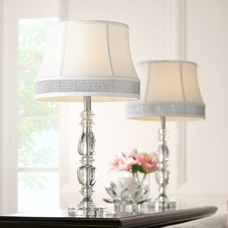 Vienna Full Spectrum Ana Crystal Table Lamps Set of 2 with Gallery Bling Shades