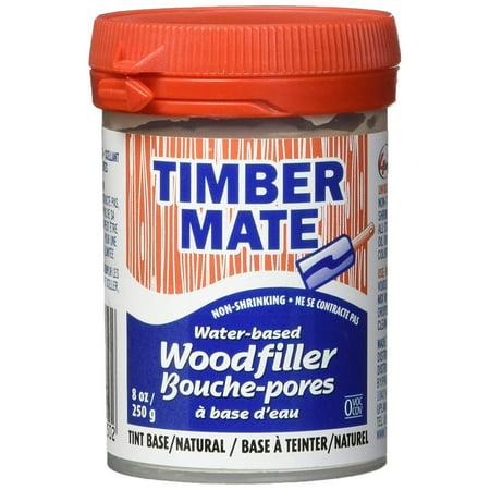 Timbermate Wood Filler, Water Based, 8oz, Natural ()