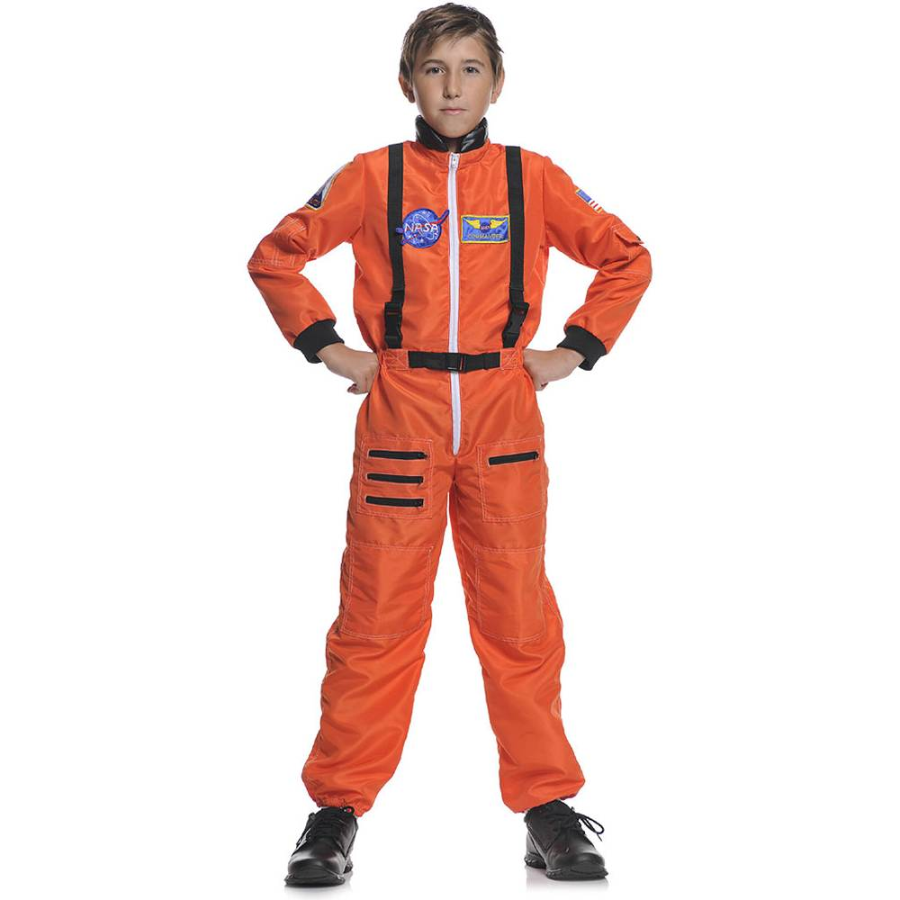 NASA Orange Astronaut Kids Costume