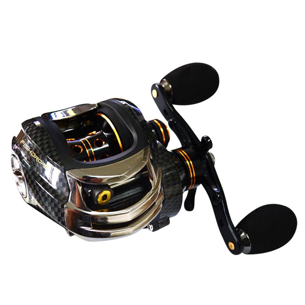 RVTYR Fishing Reels Super Light Baitcasting Fishing Reel Right//Left Handed Baitcaster Fishing Reel With Brake System fishing reels Color : Black, Size : Left hand