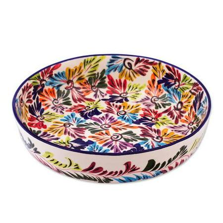 Red Barrel Studio Owen Dance Of Colors Ceramic Fruit Bowl