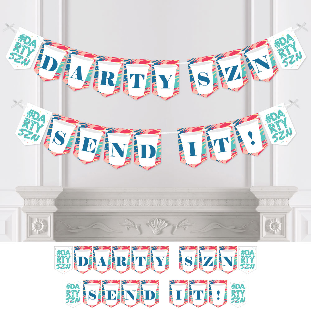 Day Drinking Party Season Bunting Banner