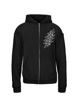Grateful Dead - Black & White Calaveras Black Youth Zip Hoodie - Youth Small