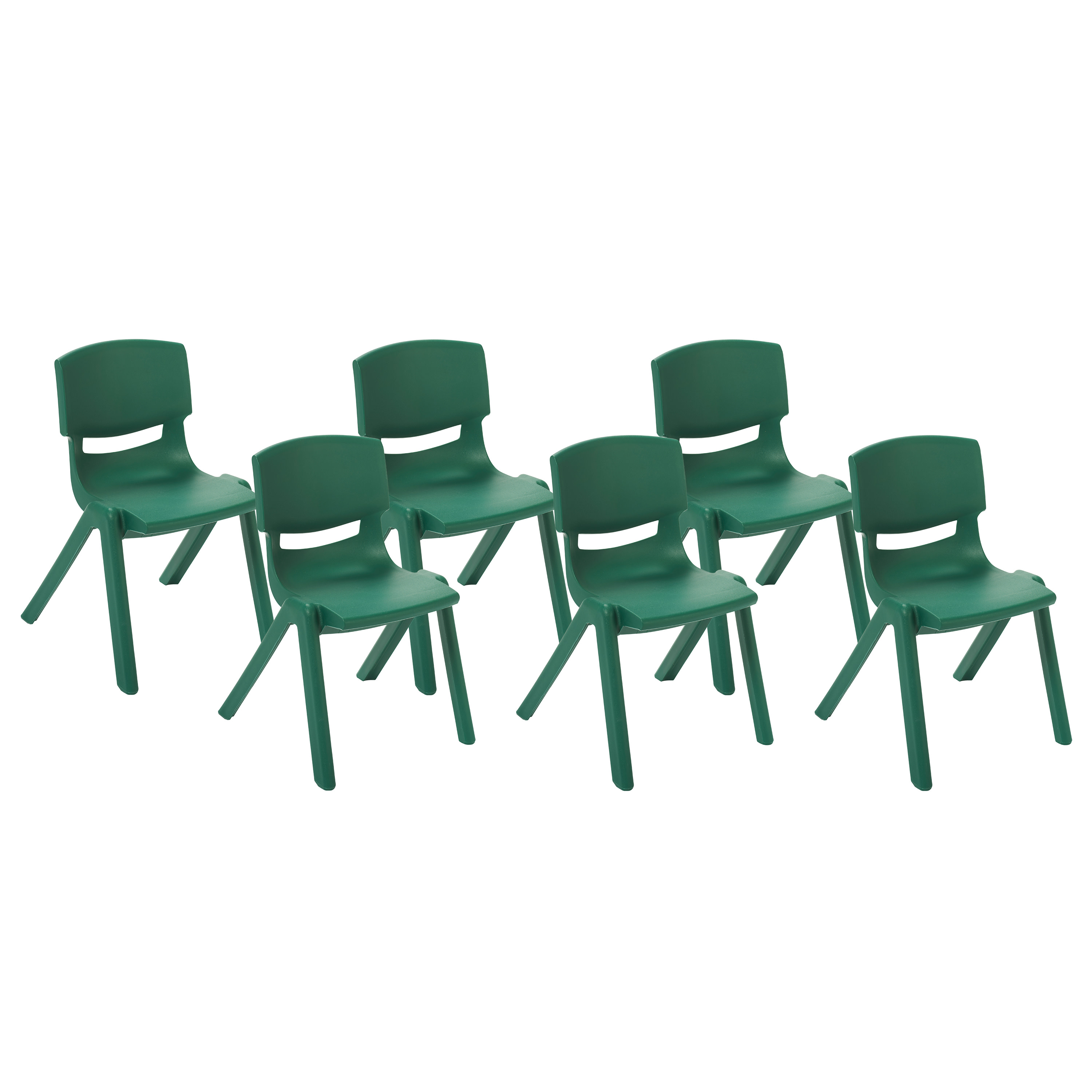 ECR4Kids 6pk Resin School Stack Chair, Multiple Colors/Sizes