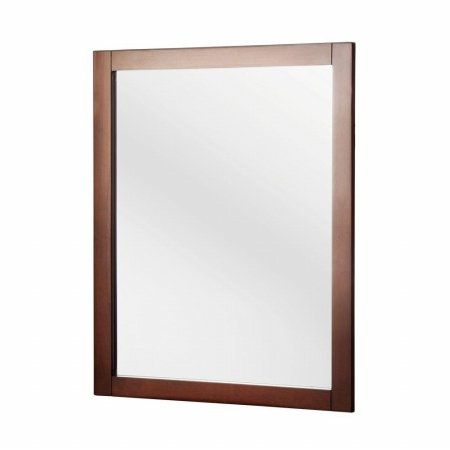 townsville 24 in w x 30 in h framed wall mirror in walnut. Black Bedroom Furniture Sets. Home Design Ideas