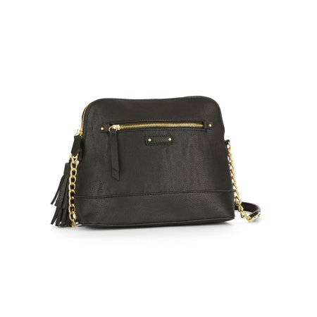 No Boundaries Black Half Moon Crossbody