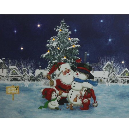 Walmart Seller Central >> LED Lighted Santa Claus with Snowmen and Christmas Tree ...