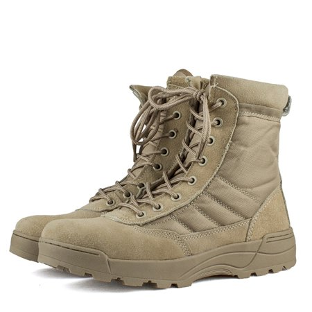 Men's Military Tactical Work Boots Lightweight Breathable Desert Boots for Hiking ()