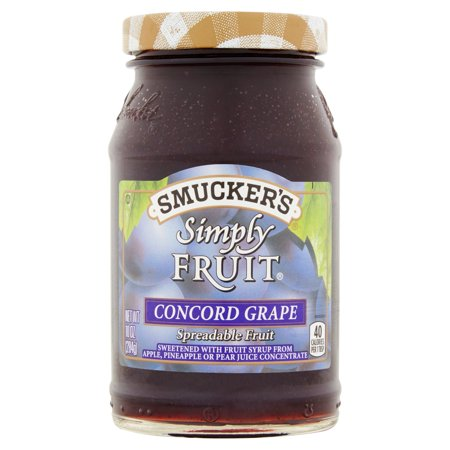 Smuckers Simply Fruit Concord Grape Spreadable Fruit  10 Oz
