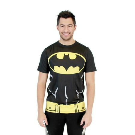 Batman Muscle Shirt (Batman Muscle and Belt Performance Compression Athletic Costume)