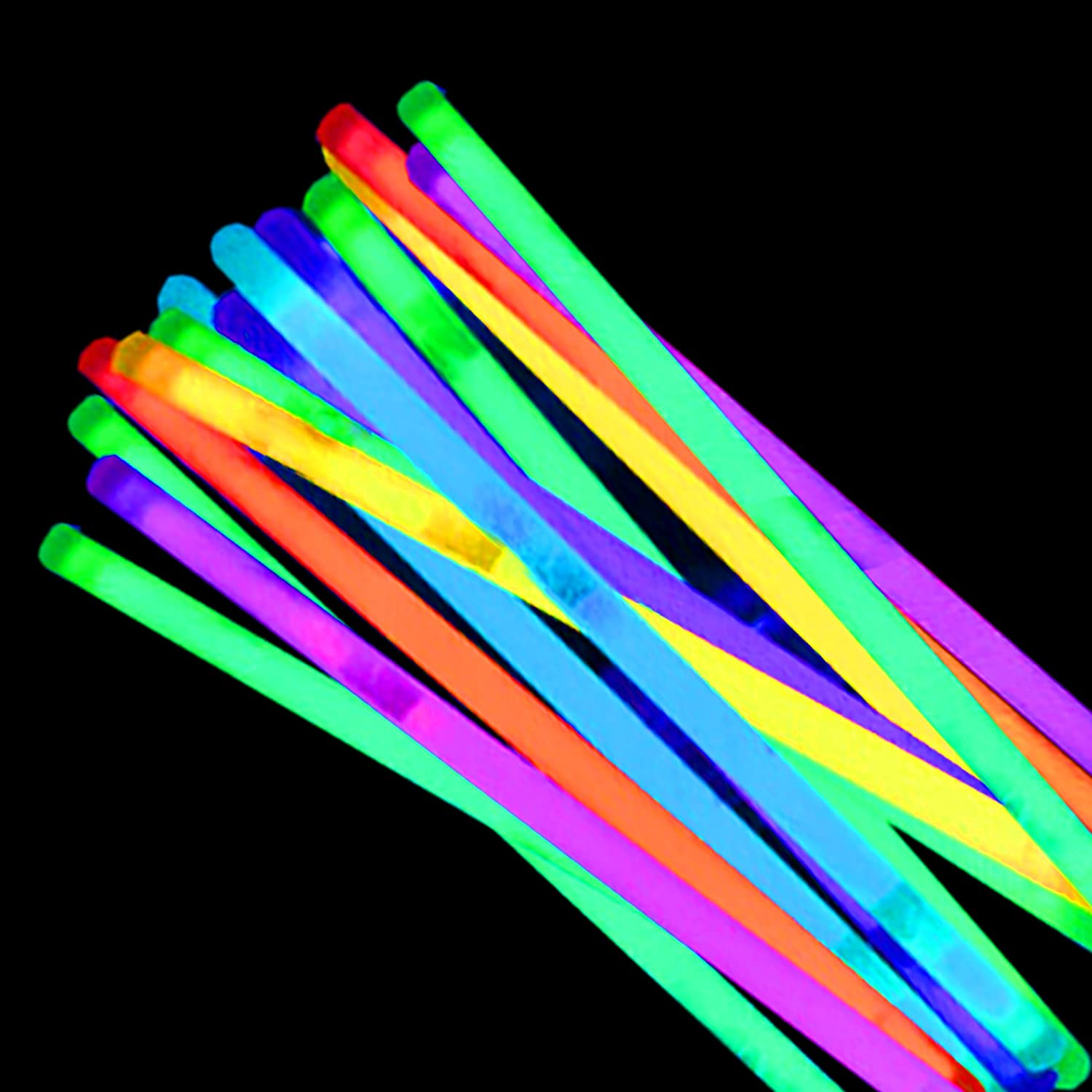 Yellow Select Your Color! Windy City Novelties 50 Pack 4 Premium Glow Stick