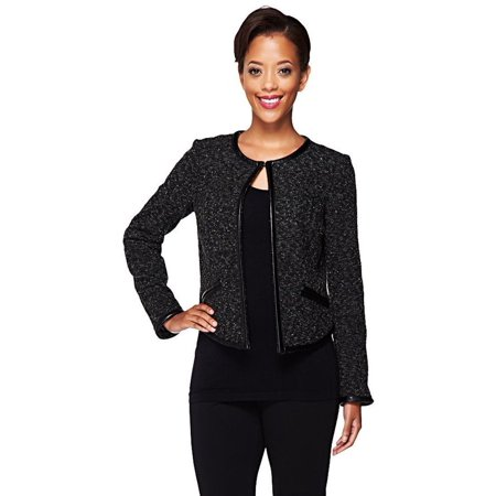 Edge Jen Rade Jacket Faux Leather Trim A256853