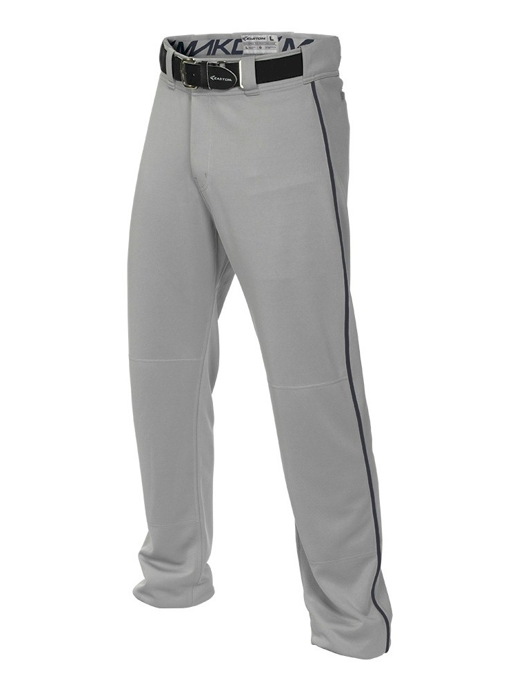 easton boys mako ii piped pants, grey navy, x-large by Easton