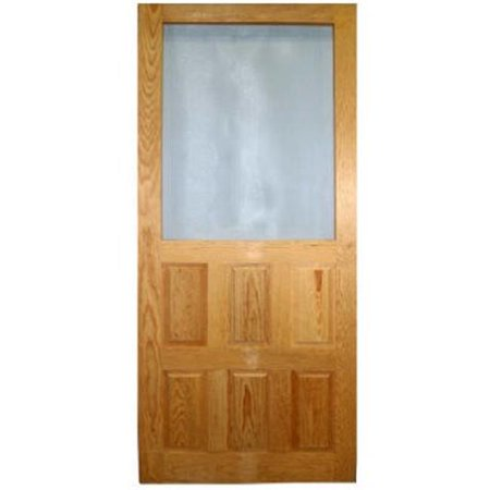 Wood Products 244082 Raised Panel Wood Screen Door, Charcoal - 2 ft. 8 in. x 6 ft. 8 -