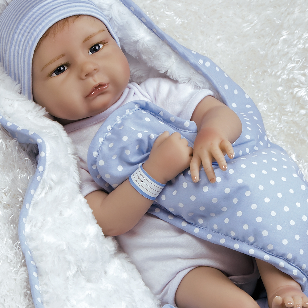 "Paradise Galleries Lifelike Realistic Soft Flex Touch Vinyl Weighted 20 inch Baby Girl Doll Gift ""All the Ladies Love Me"" Great to Reborn"