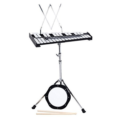 Giantex Percussion Glockenspiel Bell Kit 30 Notes w  Practice Pad +Mallets+sticks+stand by Quality Brand