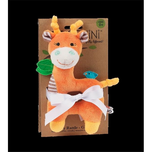 Zoocchini 41002 Baby Buddy Rattles with Giraffe, Orange, 4 x 6 inch