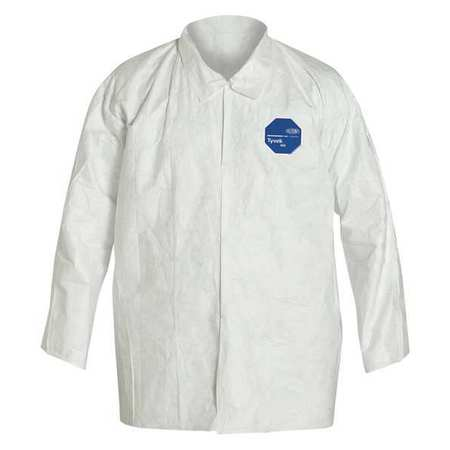 Dupont TY303SWH2X005000 Disposable Shirt, 2XL, White, PK50