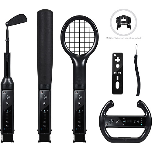 CTA Nintendo Wii Grand Slam 6-in-1 Sports Pack, Black (Wii)