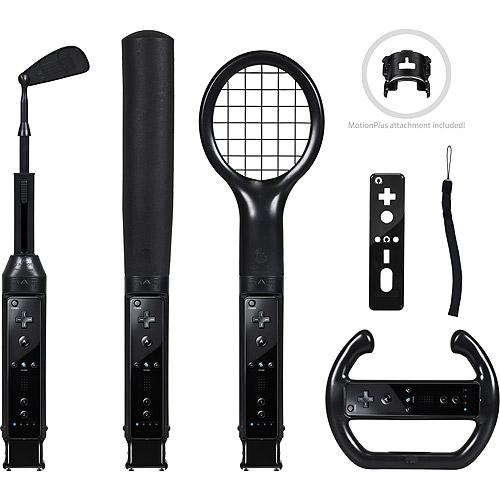 CTA Nintendo Wii Grand Slam 6-in-1 Sports Pack, Black (Wii)